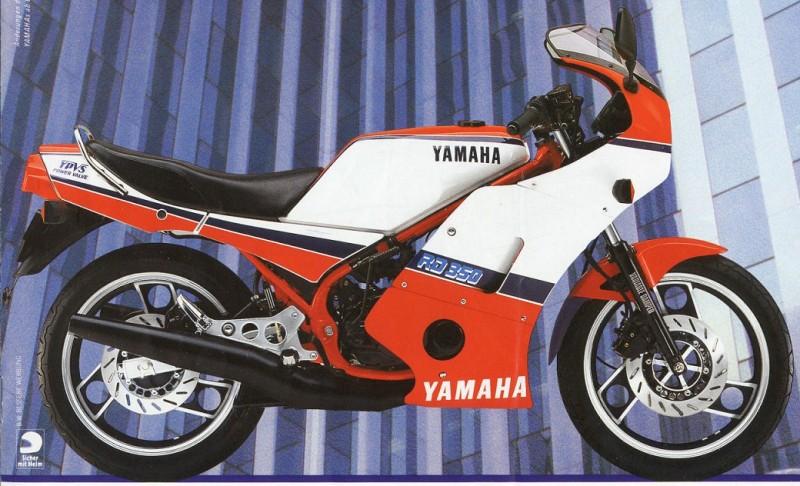 Yamaha RZ350 1984 (E) USA information