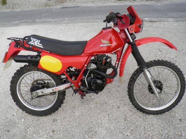 Big Xlr on 1983 Honda Xr100