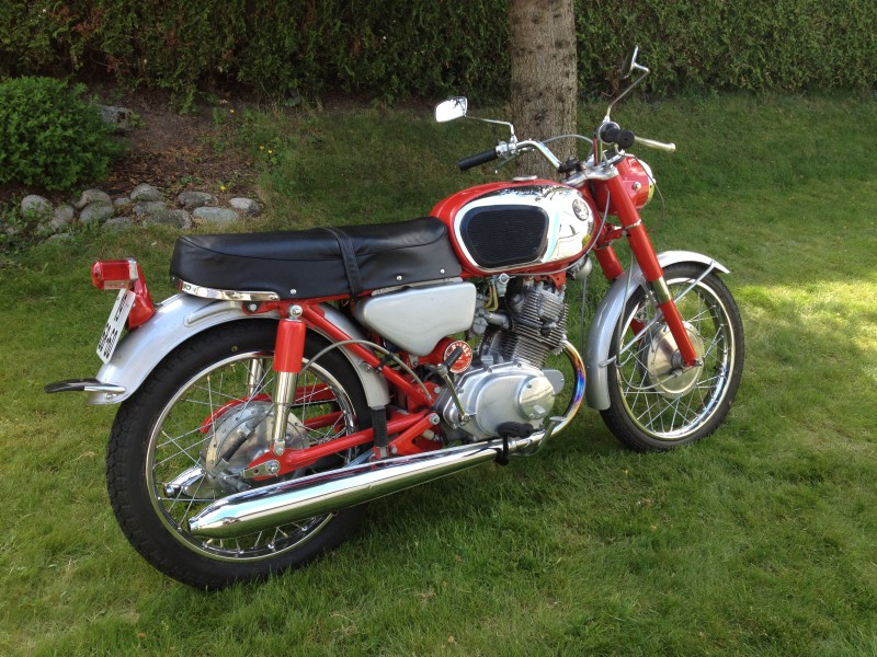 1966 Honda Benly 160 Honda Cb160 Information My 1965