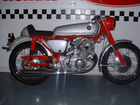 honda cb77 cafe racer 1964 - from brownie