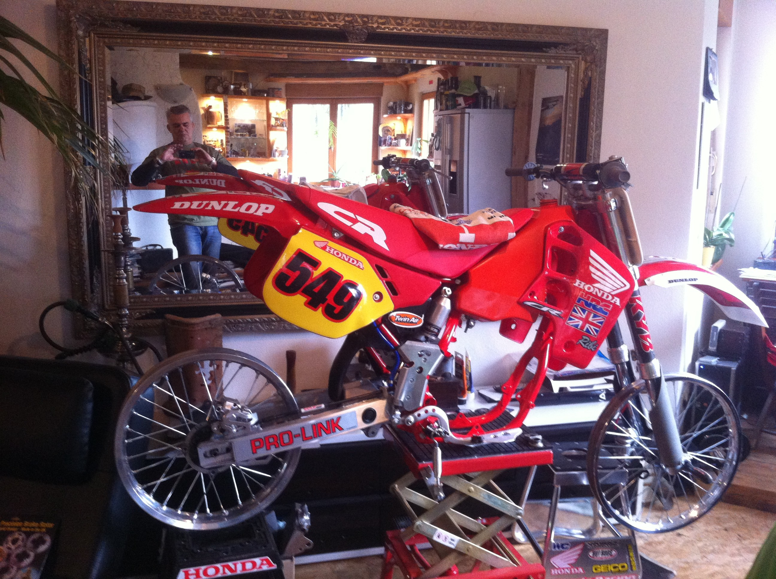 honda cr 500 1989 from holeshot. Black Bedroom Furniture Sets. Home Design Ideas