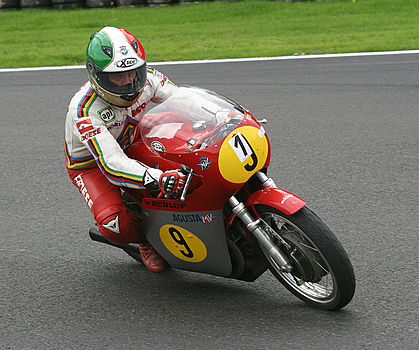 Giacomo Agostini on MV Agusta 3 cylinder