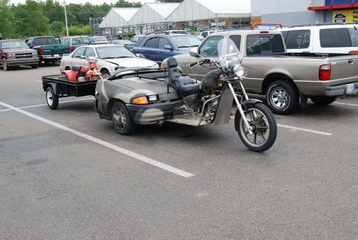 car and motorcycle combined