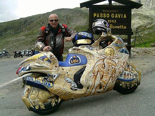 decorated motorcycle