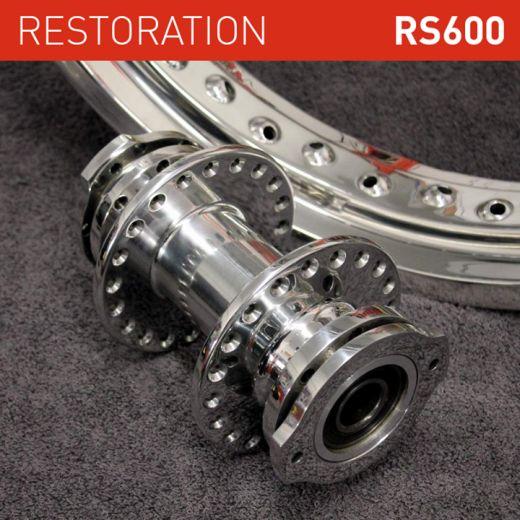 honda rs1000 restoration aluminium hubs