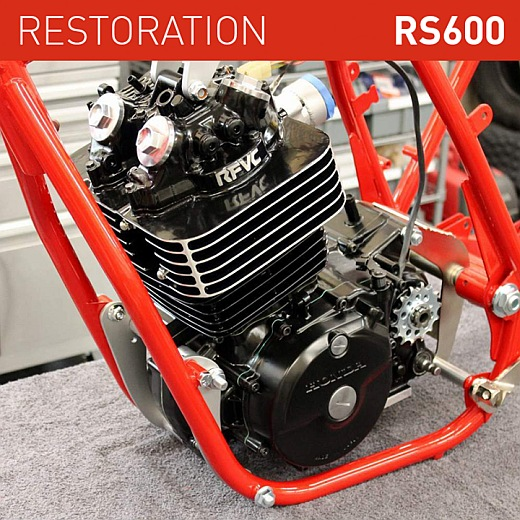 honda rs600 restoration- engine ready for frame