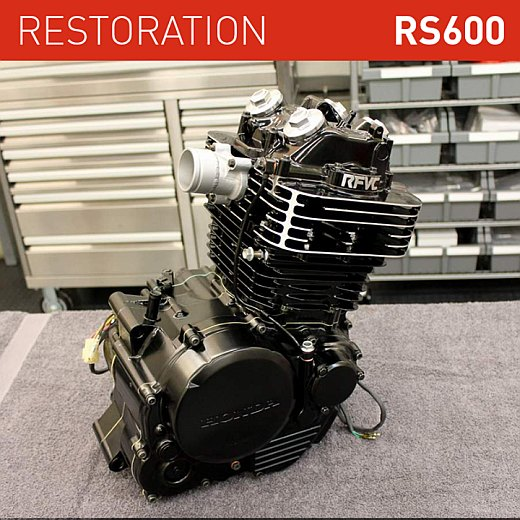 honda rs600 restoration engine finished