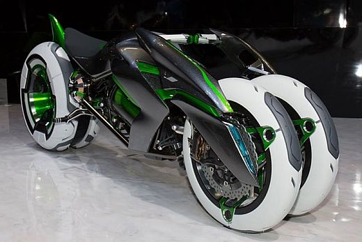 kawasaki three wheeled j concept