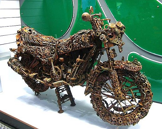 Build Motorcycle Using Spare Parts