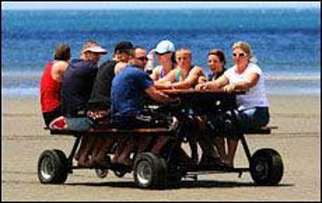 Honda Powered Motorized Picnic Table - Motorized picnic table for sale