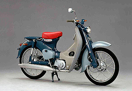 The venerable Honda super cub motorcycle