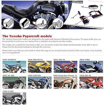 Yamaha papercraft models